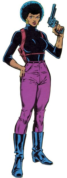 Misty Knight (Marvel Comics) during the 1980s. From http://www.writeups.org/misty-knight-marvel-comics-heroes-hire/