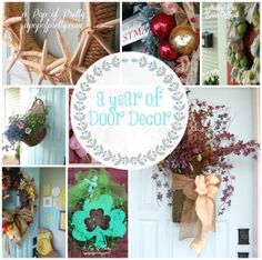 A review of DIY wreath ideas for the entire year!  Learn how to make a wreath for any season or holiday like Valentine's, St. Patrick's Day, Easter, Spring, Summer, Fall, Halloween and Christmas.- from the blog, A Pop of Pretty, apopofpretty.com