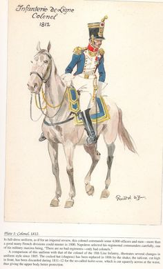 French; Line Infantry, Colonel, 1812