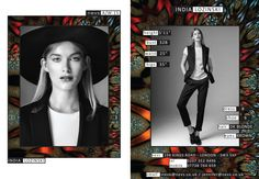 India Lozinski AW15 show card. #London #AW15 #LondonFashionWeek #LFW #models #girls #runway #nevsshows #nevswomen