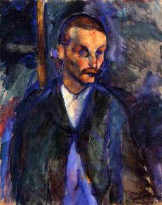 'Der Bauer von Livorno', öl auf leinwand von Amedeo Modigliani (1884-1920, Italy)