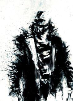 Bane ~ The Dark Knight Rises art (Batman) marvel-dc-comics-tribute Comic Book Characters, Comic Character, Comic Books Art, Comic Art, Comic Villains, The Dark Knight Trilogy, The Dark Knight Rises, Batman The Dark Knight, Im Batman
