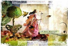 It's amazing what you can do with a bit of paper. Le Jardin de Miss Clara . Credits: and MerMag Moja Szuflada Celestine . Miss Clara, Le Talent, Paper Artist, Masquerade, Paper Cutting, Paper Dolls, Fiber Art, Illustrators, Whimsical