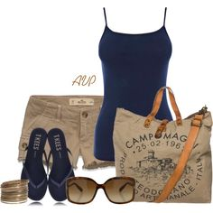 A fashion look from May 2013 featuring Warehouse tops, Hollister Co. shorts and Tkees sandals. Browse and shop related looks.
