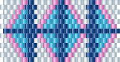 Brick Stitch Bead Patterns Journal: #13 Free Brick Stitch Pony Bead Cuff Bracelet Pattern