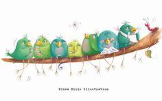 Elina Ellis Illustration: The Littlest Bird
