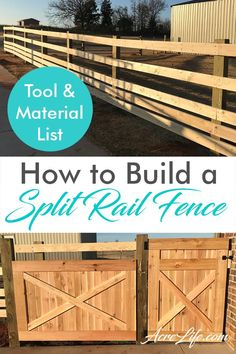 Easy step by step guide to build a split rail fence that is functional and beautiful. Material and tool list provided to make planning simple.