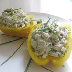 Summer Snacks Under 200 Calories Part 5 Chicken Salad-Stuffed Peppers | www.keithanthony.ie