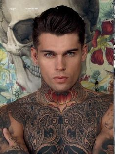 Cool tattoos. (Model: Stephen James)