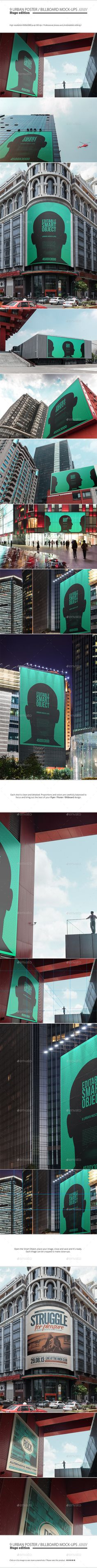 Urban Poster / Billboard Mock-ups - Huge Edition | #urbanpostermockup #billboardmockup #mockups | Download: http://graphicriver.net/item/urban-poster-billboard-mockups-huge-edition/8958149?ref=ksioks