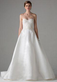 Anne Barge Lyon Wedding Dress - The Knot, Size 12, Silk white