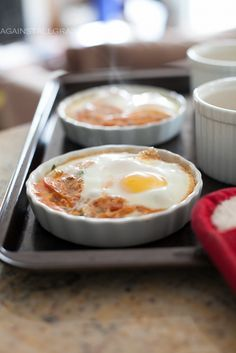 Ketogenic Diet Recipes - Italian Baked Eggs (Oeufs En Cocotte) Omit tomatoes for Keto #ketogenicdiet #keto #lowcarbs #lchf