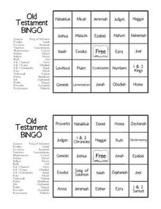 Bible Games - Old Testament BINGO - $2.00