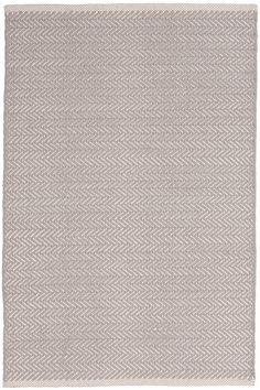 Herringbone Dove Grey Woven Cotton Rug – Dash & Albert Europe