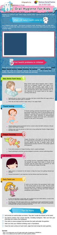 Oral Hygiene for Kids Infographic Infographic