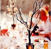 fall centerpiece with bling, fall rustic wedding decor Tree Centerpieces, Wedding Centerpieces, Wedding Table, Wedding Decorations, Table Decorations, Centerpiece Ideas, Garland Decoration, Tall Centerpiece, Simple Centerpieces