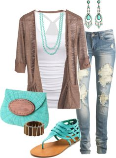 """""""Turquoise Casual"""" by jayneann1809 on Polyvore"""