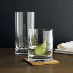 Peak Double Old-Fashioned Glass in Drinking Glasses | Crate and Barrel