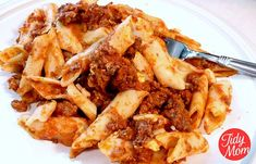 Three Cheese Baked Mostaccioli recipe at TidyMom.net   the whole family will be asking for this dish again and again!