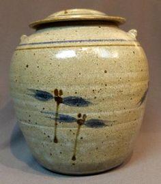 Dragonfly Vase with Lid  By: Mel Cornshucker
