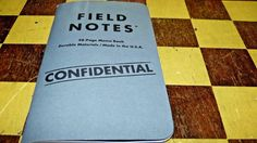 "Field Notes Loot Crate ""Classified"" Edition Notebook 2 notebooks free shipping #FieldNotes"