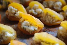 Stuffed Apricots with Maple Gorgonzola via Always Order Dessert.  I bet this would be good in dates...