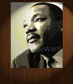 MARTIN LUTHER KING JR. drawing CANVAS PAINTING. All original paintings direct from the artist, available as oil or acrylic, feel free to choose the artistic technique of your preference. To purchase this, or for painting orders, please contact us at info@collectorware.com, or visit http://www.collectorware.com/canvas-1famous_characters.htm