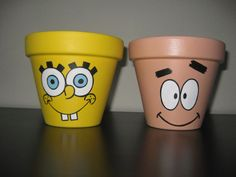 Hand painted Sponge Bob and Patrick Star by HANNIBALSTOYSNMORE, $19.99