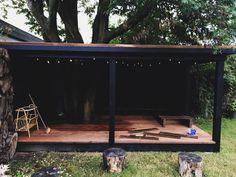 Et shelter i haven er med til at forlænge sommeren