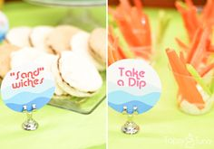beach ball food label | My favorite part is coming up with the themed party food. It was ...