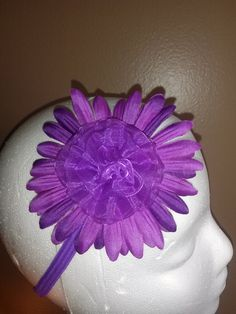 handmade purple headband by babybelladivas on Etsy, $6.00