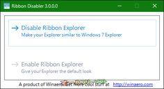 Ribbon Disabler 3.0  Ribbon Disabler--起動時の画面--オールフリーソフト