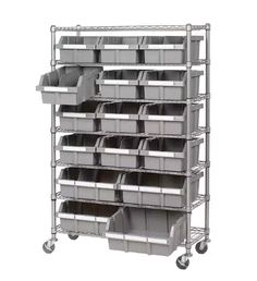 7 Shelf Bin Rack Seville Classics Brand For Commercial And Domestic Use  Made Of Metal