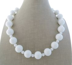 White agate necklace chunky necklace stone choker large