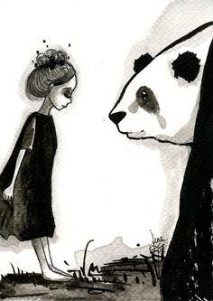 Panda & Maiden Ink Illustrations: I Never Used Ink Before And I Truly Enjoyed It | Bored Panda