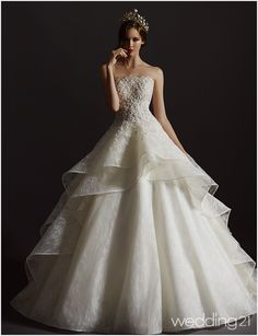 This hyper-romantic wedding dress from Bridal Village is off the charts beautiful! This hyper-romantic wedding dress from Bridal Village is off the charts beautiful! Princess Wedding Dresses, Elegant Wedding Dress, Wedding Dress Styles, Dream Wedding Dresses, Wedding Attire, Bridal Dresses, Wedding Gowns, Pretty Dresses, Beautiful Dresses