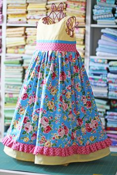 Olabelhe Sewing Pattern Lindsay's Special Occasion Dress Pattern for Girls 126 Little Girl Outfits, Little Girl Fashion, Little Girl Dresses, Fashion Kids, Toddler Dress, Toddler Outfits, Kids Outfits, Baby Girl Dresses, Baby Dress