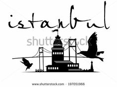welcome to istanbul city vector art - stock vector - istanbul vector graphic Architecture ideas Vector Graphics, Vector Art, Batman History, Istanbul City, Istanbul Travel, City Vector, Skyline Silhouette, Islamic Art, Islamic Decor
