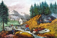 California: Gold Mining artwork