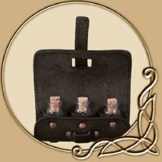Leather Potion Holder - with three Bottles    For anyone with medications that need to be brought in game this is the perfect way to do it and keep them on you just in case!
