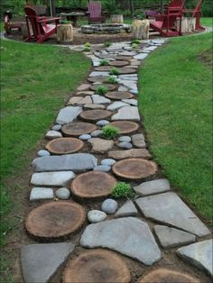 Garden Yard Ideas, Backyard Patio Designs, Front Yard Landscaping, Garden Paths, Garden Projects, Landscaping Ideas, Gravel Garden, Backyard Ideas, Diy Patio