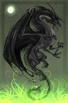 black dragon by Kartika