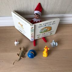 Elf reading story , - Elf on the shelf Christmas Elf, All Things Christmas, Christmas Crafts, Christmas Decorations, Awesome Elf On The Shelf Ideas, Elf On The Shelf Ideas For Toddlers, Elf Magic, Elf On The Self, Naughty Elf