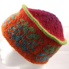 knitted Fairisle hat