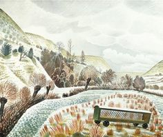 New Year Snow by Eric Ravilious 1935 (Private Collection).