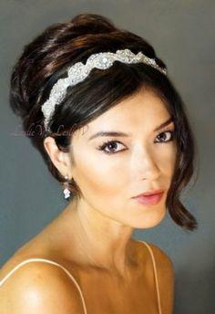 Amazon.com: Sophia: IVORY Crystal Beaded Bridal Headband 111a: Everything Else