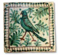 Italian bird tile