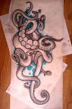 Octopus Tattoo Sleeve, Octopus Tattoo Design, Octopus Tattoos, Tattoo Designs, Badass Tattoos, Up Tattoos, Sleeve Tattoos, Cool Tattoos, Tattoo Sketches
