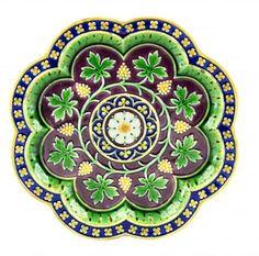 "Very rare A.W.N. Pugin designed Minton Majolica Plate, 9"" DIam"