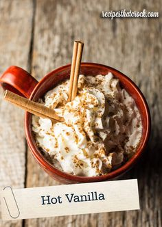 Switch up your hot cocoa this winter with this unique, creamy, and oh-so delicious Hot Vanilla recipe! Quaker® Quick Tip: Top off with whipped cream and a touch of cinnamon for added seasonal flavor.